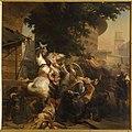 Gaucher de Châtillon défend seul l'entrée d'une rue par Karl Girardet.jpg