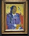 Gauguin, Tahitian Woman with a Flower, 1891, Ny Carlsberg Glyptotek, Copenhagen (36023293840).jpg
