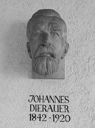 Johannes Dierauer - Plaque of Dierauer in the Marktgewölbe of the town hall in Berneck