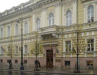 Bank of Lithuania - Image: Gedimino prospektas 6 in Vilnius