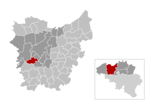 Nazareth, Belgium - Image: Gem Nazareth Location