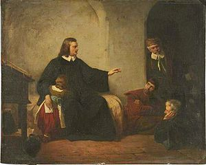 George Folingsby - Bunyan in Prison by Folingsby