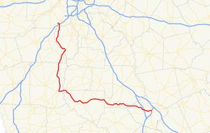 Georgia State Route 74 - Image: Georgia state route 74 map