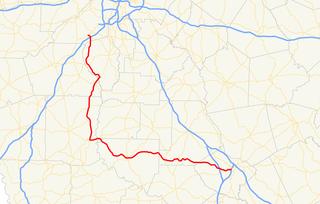 Georgia State Route 74 Highway in Georgia