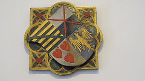 Bernard II, Duke of Saxe-Lauenburg - Bernard's coat of arms, formerly Ratzeburg Cathedral, now District Museum, Ratzeburg