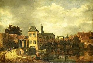 View of Haarlem from across the Spaarne, near the Eendjespoort