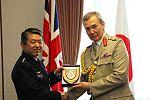 Gift exchange between Gen Shigeru Iwasaki and Gen. Sir Nicholas Houghton.jpg