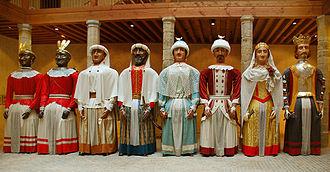 Gigantes y cabezudos - Gigantes of Pamplona, Spain