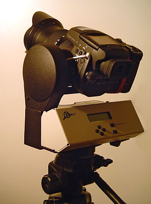 Gigapan - A 2008 beta GigaPan unit with a camera
