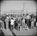 Gila River Relocation Center, Rivers, Arizona. A wrestling tournament was held by the evacuees Than . . . - NARA - 538629.tif