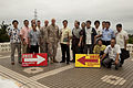 Ginowan, Futenma officials sign agreement specifying disaster preparedness procedures 130626-M-CU214-100.jpg