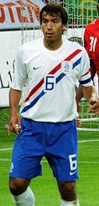 Gio playing for the Netherlands