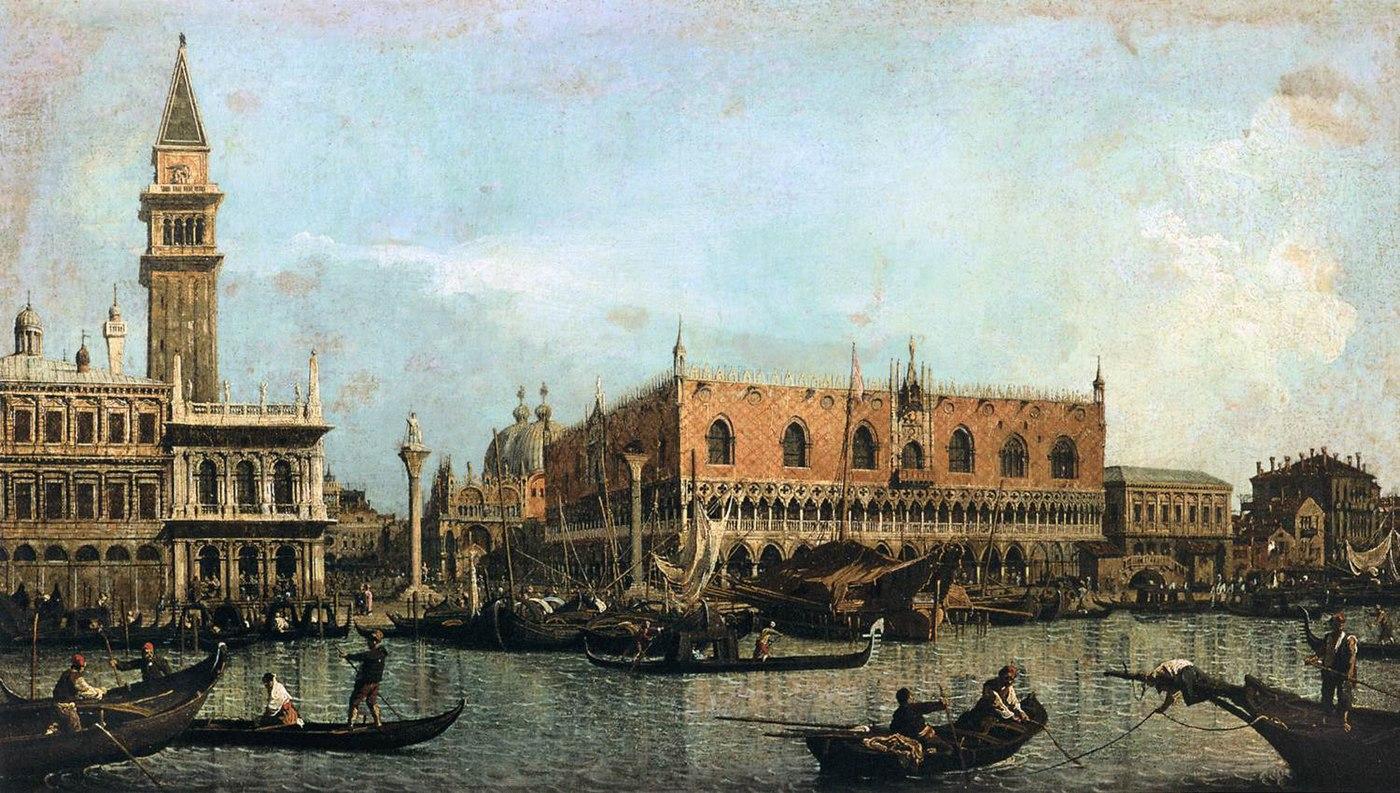 Le Môle vu du bassin de San Marco