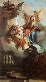 Giovanni Battista Tiepolo - The Holy Family Appearing in a Vision to St Gaetano - WGA22267.jpg