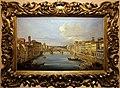 Giovanni signorini, veduta di firenze con il fiume arno da ponte vecchio verso ponte santa trinita, 1850 ca.jpg