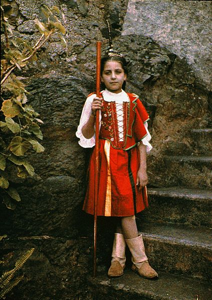 File:Girl in Traditional Costume, Taken in Madeira, by Sarah Angelina Acland, c.1910.jpg