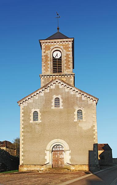 Façade de l'église Notre-Dame de Givry