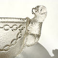 Glass dog - glass sugar bowl 1930's years.jpg