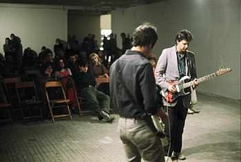 English: Glenn Branca performing at Hallwalls ...