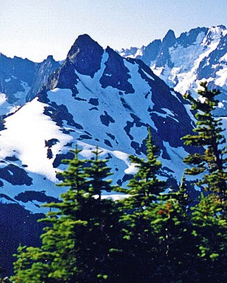 Goat Mountain (Whatcom County) - Goat Mountain seen from Winchester Mountain Lookout