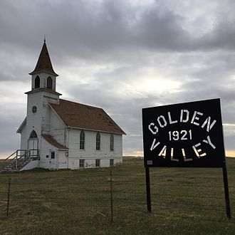 Harding County, South Dakota - Image: Golden Valley Norwegian Lutheran Church