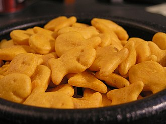 Goldfish (cracker) - Goldfish crackers in a bowl