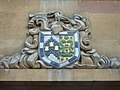 Gonville and Caius College shield of arms on Rose Crescent, Cambridge.jpg