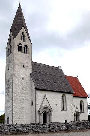 Ekeby Church - Image: Gotland Ekeby kyrka Gesamtansicht perspective