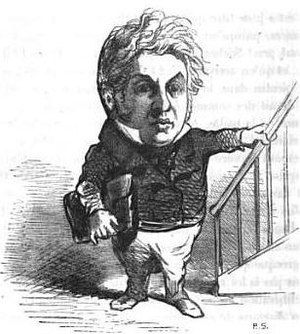 Michel Goudchaux - Caricature of Goudchaux by Cham, 1850