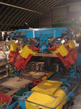 Stewart platform - Eric Gough's Tire Testing Machine, which is a Stewart platform with large jacks
