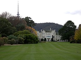 Government House from the lookout on Lady Denman Drive