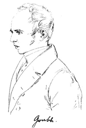 Christian Dietrich Grabbe - Grabbe, sketch by Theodor Hildebrandt, 1832
