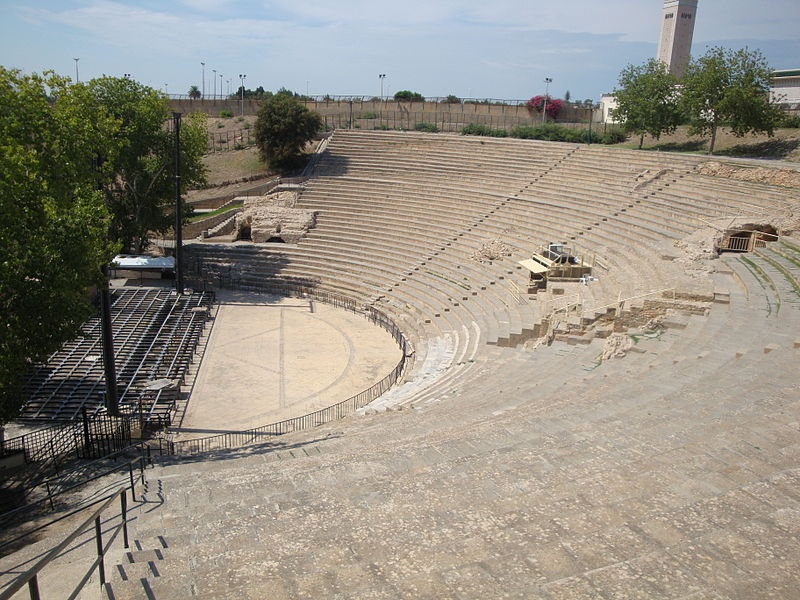 Roman Theatre, Carthage, Tunisia. Scenes from Monty Python's Life of Brian