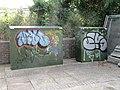 Graffiti on the boxes - geograph.org.uk - 1380917.jpg