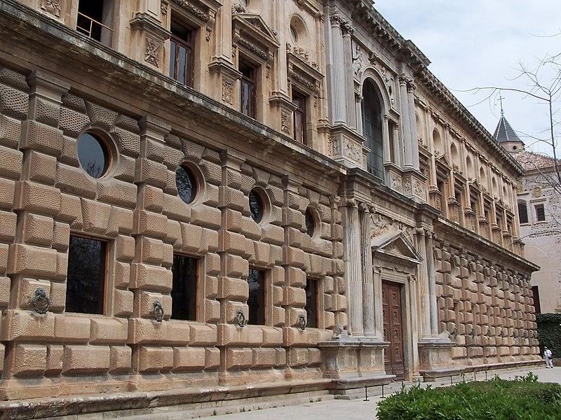 File:Granada Alhambra Palacio Carlos V Exterior.jpg