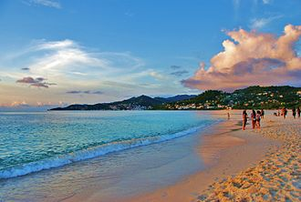 Shore - Shore of Grand Anse Beach, Saint George Parish, Grenada, West Indies