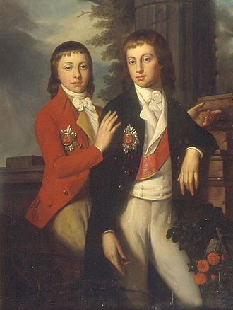 Augustus, Grand Duke of Oldenburg - Augustus with his brother George in the 1790s.