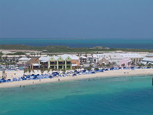 A view of the southwestern beach at Grand Turk...