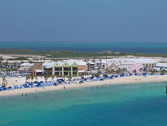 Turks and Caicos Islands - View of the southwestern beach at Grand Turk Island