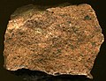 Granite (Pikes Peak Batholith (pgpf dike facies), Mesoproterozoic, 1.08 Ga; next to summit house atop Pikes Peak, central Colorado, USA) 2.jpg