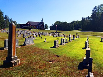 National Register of Historic Places listings in Davidson County, North Carolina - Image: Graveyard View with Beck Church in Background
