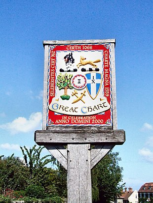 Great Chart village sign