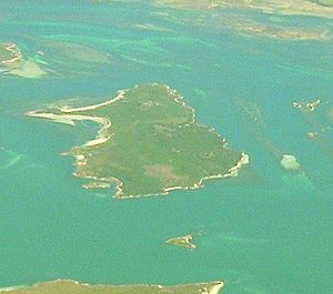 Great Dog Island (Tasmania) - Great Dog Island viewed from the air, from the east