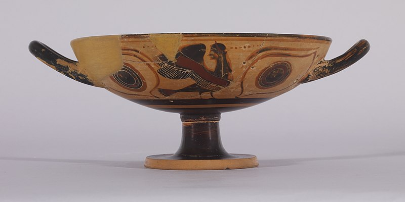 File:Greek - Black-figure Kylix with Sirens - Walters 4837 - Side B.jpg