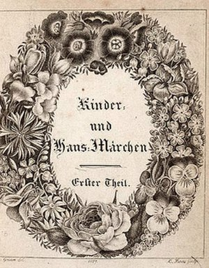 Grimms' Fairy Tales - Title page of first volume of Grimms' Kinder- und Hausmärchen (1819) 2nd Ed.