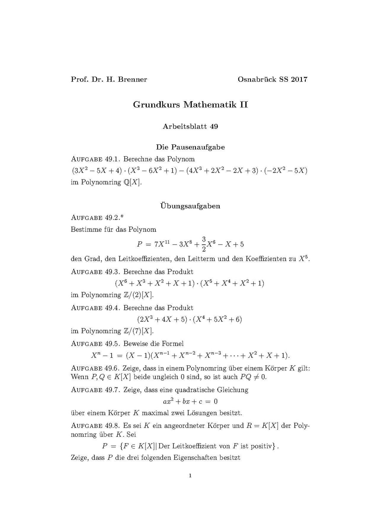 Charmant Mathe Arbeitsblatt Polynome Ideen - Gemischte Übungen ...
