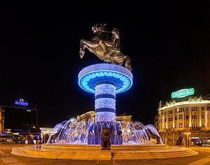 Macedonia Square, Skopje - Image: Guerrero a caballo, Skopie, Macedonia, 2014 04 17, DD 106