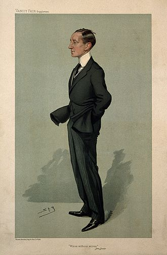 Leslie Ward - Image: Guglielmo, Marchese Marconi. Colour lithograph by Sir L. War Wellcome V0003849