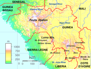 Map of the Guinea Highlands Guinea Highlands map.png