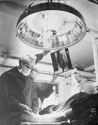 Guy's Hospital - Surgery is performed at Guy's in 1941